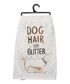 Primitives by Kathy 'Dog Hair is my Glitter' Dish Towel Dish Towels, Tea Towels, Dog Room Decor, Dog Blanket, Dog Items, Flour Sack Towels, Animal Decor, White Dogs, Kitchen Styling