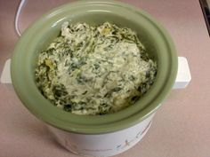 Leni Cooks!: Crockpot Spinach Artichoke Dip. This was terrific! Now I don't need to go to Applebee's for a fix. Great take-along for a party.