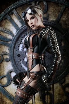 """gothicandamazing: """" Necklaces: Alchemy Gothic Leather pouch: ArcaneArmoury Coat: Draculaclothing Pants: Kato's SteampunkCouture Sunglasses: Victorian Time Machine Photo/model: Alternate History..."""