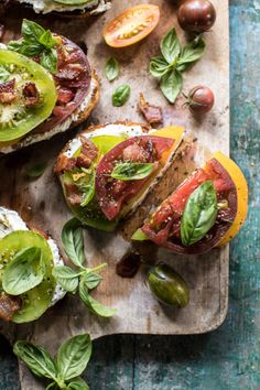 fattributes:Opened Faced Tomato and Goat Cheese Sandwich with...