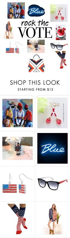 Rock The Red White and Blue by rocky-springs-vintage on Polyvore featuring Dolce&Gabbana, Tommy Hilfiger, Seletti, rockthevote and integrityTT