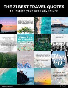 The 21 Best Travel Quotes | ckanani.com #travel #travelquote