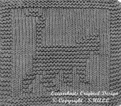 Knitting Cloth Pattern PROWLING KITTY PDF