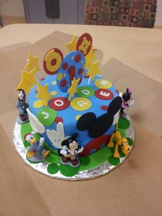 Mickey Mouse Clubhouse Cake! My baby boy's 1st Birthday!