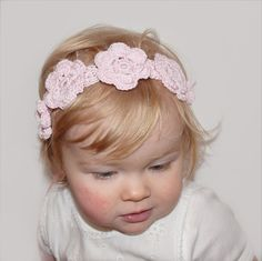 Pink Baby Girl Headband - Cherry Blossom Flower Crown for Baby Girls and Toddlers - Flower Girl Headband or Belt - Baby Photo Prop by KeraSoftwear on Etsy
