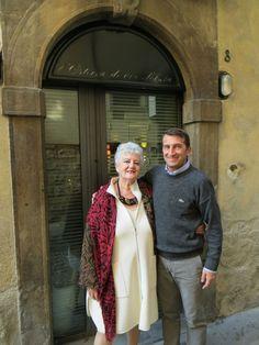 Paola Meneghetti con Ezio Gritti presso Osteria Di Via Solata.