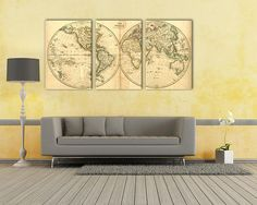 25+ MORE World Map Arts in our store: https://www.etsy.com/shop/VBDecor?section_id=21011955 >>> We specialize in Large (and Extra Large) Format High Resolution Wall Art Canvas and Metal Prints. ============================================&#...