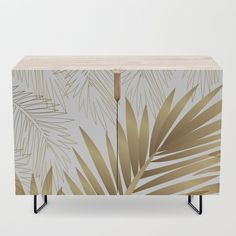 Golden Palms Credenza by mmartabc Side Board, Office Cabinets, Bar Carts, Tv Stands, Walnut Finish, Credenza, Cleaning Wipes, Armoire, Mid-century Modern