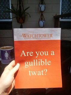 From Religion Poisons Everything on Facebook. Well done that person ! @JehovahsWitnesses