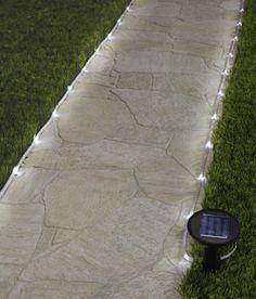 DIY Backyard & Garden Shed Lighting Ideas Solar Rope Lighting. Use a solar rope to light your pathwa Garden Shed Lighting Ideas, Backyard Lighting, Outdoor Lighting, Rope Lighting, Driveway Lighting, Pathway Lighting, Lighting Design, Unique Lighting, Solar Pathway Lights