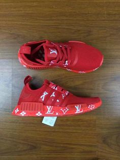 finest selection 53915 9ae4a Spring Summer 2018 New Arrival 2018 New Colorways LV X Adidas NMD Runer All Red  Red October