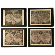 Pimpernel Old World Maps Placemats - Set of 4 ($78) ❤ liked on Polyvore featuring home, kitchen & dining, table linens, kitchen accessories, cork table mats, pimpernel place mats, cork placemats, pimpernel table mats and map placemat