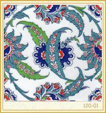 Osmanlı Saray Çinileri İznik Duvar Panoları Kütahya Hamam Cami Karoları