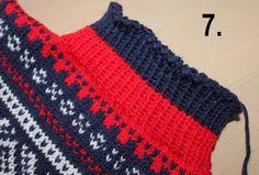 Montering av genser med isydde ermer