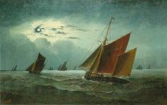 """Lowestoft trawlers at work"""
