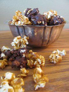 Growing Gourmets: Chocolate Almond Caramel Corn