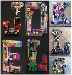 Lego Letter Wall Hangings