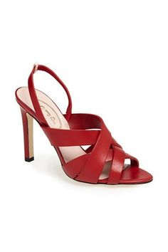 Newsflash: Sarah Jessica Parker's Shoe Line Is Not Actually a Manolo Blahnik Collaboration Unique Shoes, Cute Shoes, Me Too Shoes, Sarah Jessica Parker Shoes, Nordstrom Shoes, Mid Heel Sandals, Slingback Sandal, Hot Heels, Red Shoes