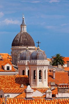 church domes of Dubrovnic, Croatia