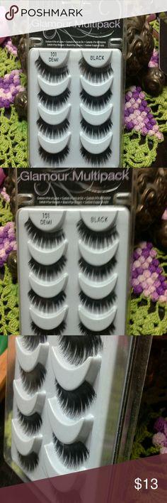 Ardell glamour EYE LASHES ♥ Demi 101 glamour blabk, new never worn Ardell lashes Makeup False Eyelashes