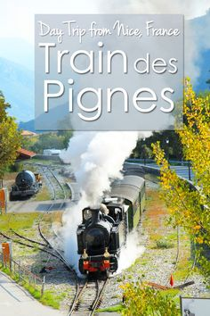 Ride the steam train des Pignes in France on a day trip from Nice