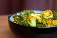curry baked broccoli and cauliflower by sweetbeetandgreenbean, via Flickr
