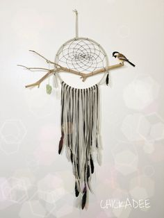 Hey, I found this really awesome Etsy listing at https://www.etsy.com/listing/254916752/the-chickadee-dreamcatcher-natural-wood