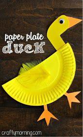 Montando minha festa: 30 idéias criativas de como reutilizar pratinhos descartáveis de festa! Fun Crafts For Kids, Preschool Crafts, Art For Kids, Creative Kids, Paper Crafts, Arts And Crafts, Paper Plates, Paper Plate Animals, Easter