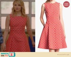 Quinn's red polka dot dress on Glee. Outfit Details: http://wornontv.net/28917 #Glee #fashion