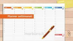 Planner settimanale da stampare in PDF