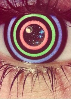 JUST ENJOY THE RIDE! #trippy #psychedelic #eye ,,,,xspace #galaxy