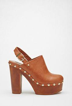 Clogs Mules Leather Womens Shoes Women Slip S Black 5 Brown Size 8 Sz 7 9 Suede Us 38 Unique Shoes, Cute Shoes, Me Too Shoes, Shoes Heels Boots, Heeled Boots, Forever 21, Shop Forever, Flip Flop Shoes, Black High Heels