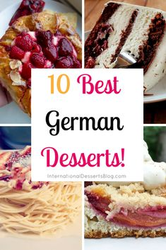 Must-Try German Desserts amp; Sweet Treats I can t wait to try these traditional German desserts!I can t wait to try these traditional German desserts! Dessert Blog, Dessert Recipes, Cake Recipes, Easy German Recipes, German Cakes Recipes, Austrian Recipes, French Recipes, Traditional German Desserts, German Plum Cake