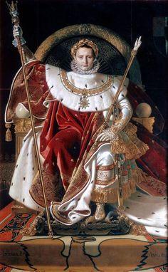 Jean Auguste Dominique Ingres, Napoléon 1er sur son trône impérial, 1806