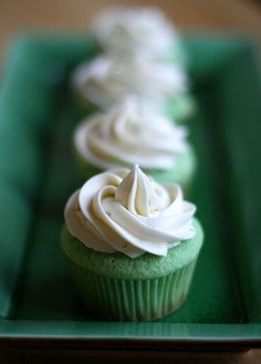 Lime cupcakes with lime cream cheese frosting