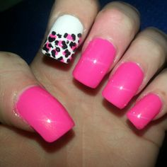 #nails #pink  Fun for spring!!