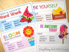 Printable To Do Lists from Anything But Perfect