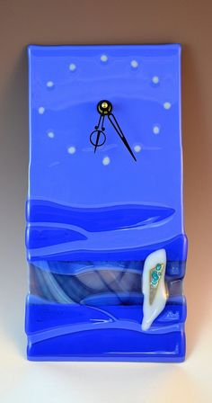 Fused glass clock- Krenzin.