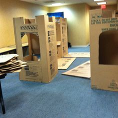 Make a giant castle out of card board boxes... Thank you Mr. McGroovy's rivet kits :)