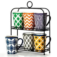 Not that I'd use these, but they're cute. 6-Piece Mug Set with Stand - $20 (Sams Club)