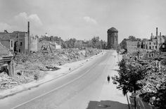 Mannheim, Germany after bombing in WW2