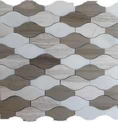 Wave Pattern Marble Mosaic Tiles Mix Wooden Grey And White Dark Bro Contemporary Tile Gl Stone Ltd