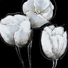 peinture sur toile negatif de fleurs