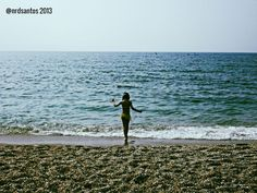 Nerja. My daughter exploring the empty Mediterranean (2013)