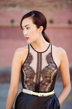 Layering Leather and Lace