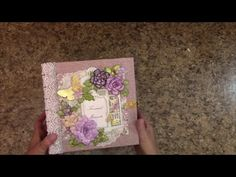 PART 1 TUTORIAL 8 X 8 MINI ALBUM WITH MULBERRY KISSES PAPER - DESIGNS BY SHELLIE - YouTube