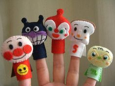 アンパンマンの指人形|Craft Cafe(クラフトカフェ) もっと見る