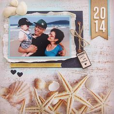 #layout #scrapbooking #onthebeach #LO #kaisercraft #sandy toes