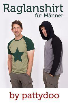 Coole Shirts für Männer kannst du einfach selber nähen. Die Nähanleitungen und Videotutorials von pattydoo helfen dir dabei!