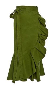 Medium alexis green daniel ruffled skirt